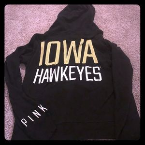 Victoria's Secret Iowa Hawkeyes Black Hoody Medium